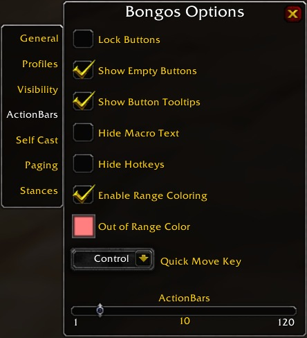 Bongos Reference Guide - Vanilla World of Warcraft Addon