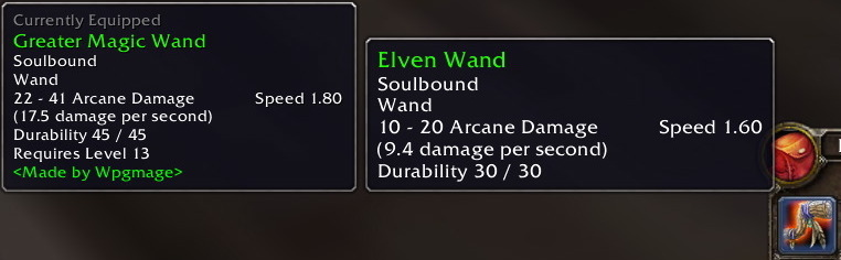 EquipCompare Reference Guide - Vanilla World of Warcraft Addon