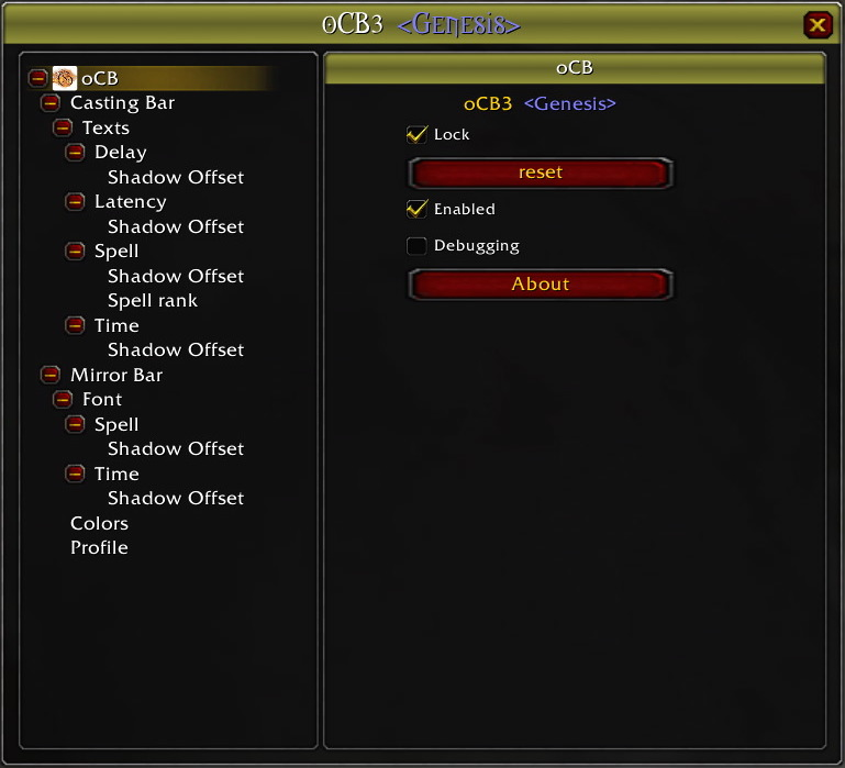 oCB Reference Guide - Vanilla World of Warcraft Addon